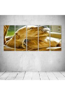 Quadro Decorativo - Dogs Neon - Composto De 5 Quadros