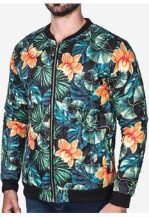 Jaqueta Puffer Floral 102607