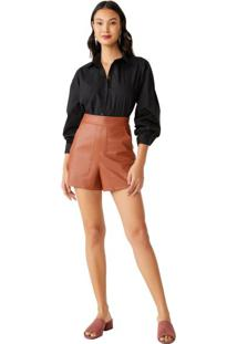 Short Curto Leather Bolsos