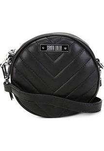 Bolsa Santa Lolla Mini Bag Mestiço Matelassê Feminina - Feminino-Preto