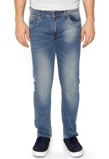 Calça Jeans Sergio K Skinny Estonada Azul