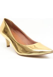 Scarpin Metalizado - Dourado- Salto: 6,5Cmiã³Dice