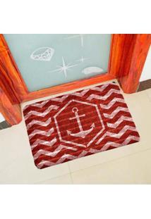 Capacho Carpet Ncora Vermelho