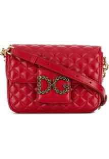 Dolce & Gabbana Bolsa Transversal Dg Millennials Matelassê - Vermelho