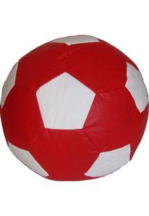 Puff Ball Infantil Futebol - Stay Puff - Vermelho