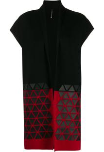 Pierantoniogaspari Colour-Block Sleeveless Cardigan - Vermelho