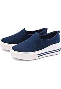 Slip On Flatform Casual Touro Boots Feminino Azul - Kanui