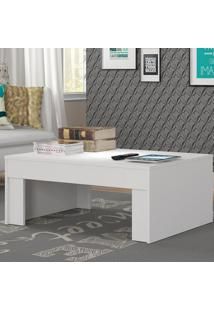 Mesa De Centro Prada Branco Fosco - Atualle Móveis