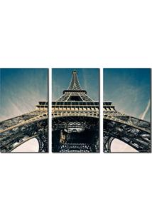 Quadro Eiffel Tower City Sky Paris - Multicolorido - Dafiti
