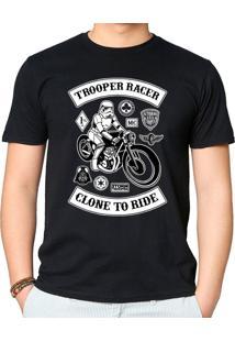Camiseta Stormtrooper Caferacer Geek10 - Preto