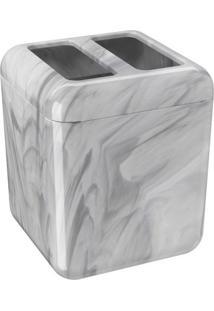 Porta Escova Cube Branco E Preto