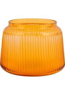Vaso De Vidro Decorativo Redondo Reales- Linha Sun