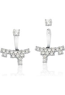 Brincos Le Diamond Ear Jacket Prata - Kanui
