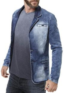 Blazer Bivik Jeans Azul