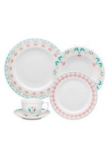 Aparelho De Jantar E Chá 30 Peças Flamingo Duquesa