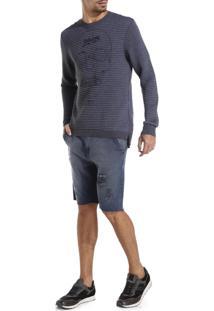 Bermuda John John Clássica Rennel Jeans Azul Masculina (Jeans Medio, 46)