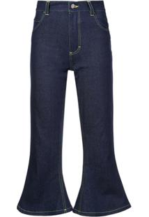 Hardeman Calça Jeans Cropped - Azul