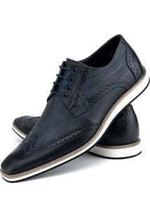 Sapato Social Bigione - Masculino-Azul