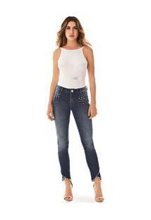 3b38c2690 ... Calca Slim Isabelli Cos Intermediario Detalhe Tachas Jeans