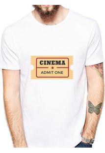 Camiseta Coolest Cinema Masculina - Masculino-Branco