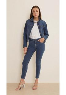 Jaqueta Iodice Classica Com Recorte Jeans