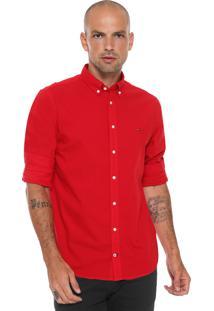 Camisa Tommy Hilfiger Reta Classic Vermelha