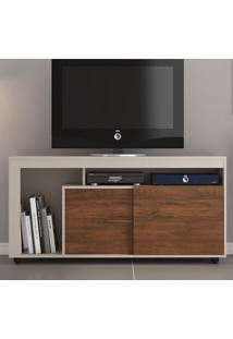 Rack Para Tv Até 43 Polegadas Personale 2 Portas Off White/Seda - Viero Móveis