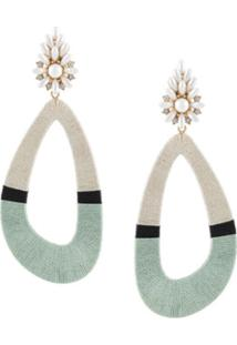Maryjane Claverol Cassandra Two-Tone Earrings - Verde