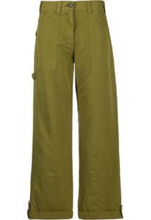 Ymc Calça Pantalona - Verde