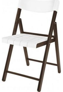 Cadeira Potenza Dobravel Tabaco Com Plastico Branco - 20642