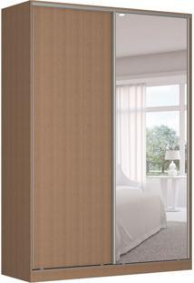 Guarda-Roupa Solteiro Com Espelho Tunas I 2 Pt 3 Gv Marrom