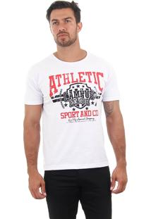Camiseta Masculina Maidale - Bco/Vrm