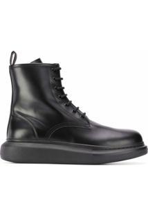Alexander Mcqueen Ankle Boot Oversized - Preto