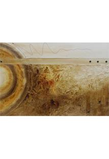 Quadro Artesanal Com Textura Abstrato Ii Marrom 70X100 Uniart