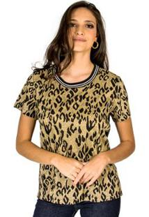 Camiseta Metalizada Colcci - Feminino-Dourado