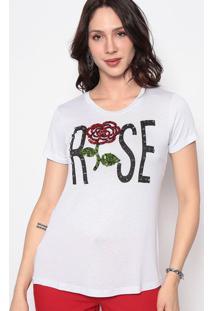 """Blusa """"Rose""""- Branca & Vermelha- Cavalaricavalari"""