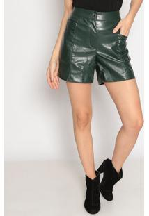 Bermuda Com Bolsos- Verde Escuro- Seduã§Ã£O Dressseduã§Ã£O Dress