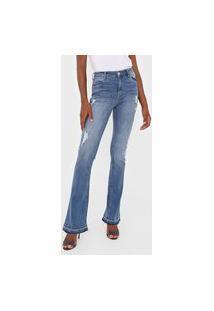 Calça Jeans Dimy Bootcut Kim Azul