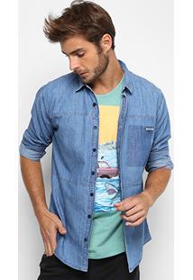 Camisa Jeans Colcci Manga Longa Slim Masculina - Masculino