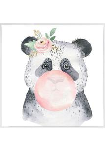 Quadro Decorativo Panda- Branco & Cinza- 40X40Cmarte Prã³Pria