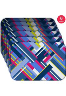 Jogo Americano Love Decor Wevans Geometric Shapes Kit Com 6 Pçs