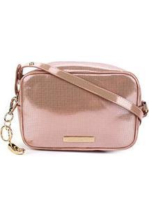 Bolsa Loucos & Santos Micro Metal Mini Bag Feminina - Feminino-Rosa
