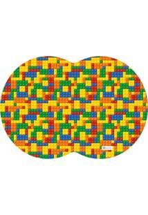 Tapete Pet Mdecore Geométrico Geométrico Colorido 54X39Cm