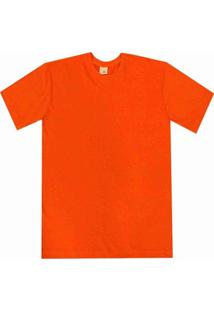 Camiseta Pau A Pique Básica - Masculino-Laranja