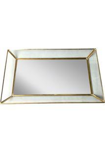 Bandeja De Vidro Com Espelho 35,5Cm Glass Edges Urban Home
