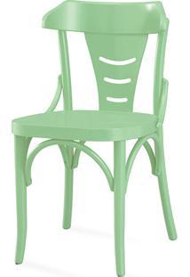 Cadeira Jantar De Madeira Augustine Laca Verde Sálvia - 45X50,5X83 Cm
