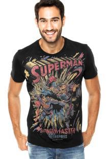 Camiseta Fashion Comics Regular Superman Preta