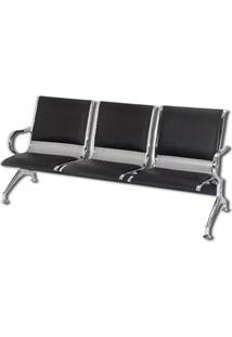 Cadeira Longarina 3 Lugares Pel-9601C -3V - Pelegrin