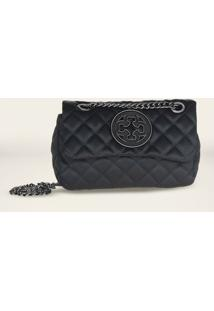 Bolsa Shoulder Bag Capodarte Vitello 4601866 - Feminino-Preto