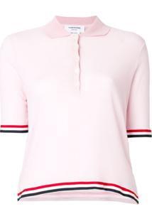 Thom Browne Camisa Polo Translúcida - Rosa